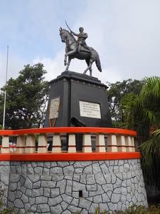 Shivaji Bhosle Statue At Pratapgadh - Mahabaleshwar - Maharashtra - India