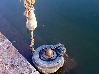 Shiv Ling At Narmada