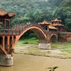Sichuan Bridge Near Leshan