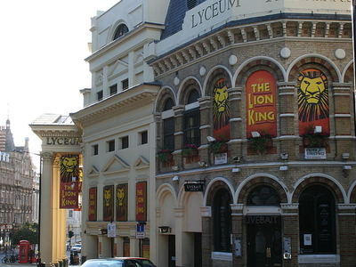 Side View Of The Lyceum Theatre