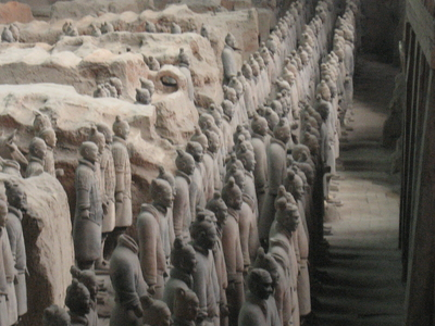Side View Terracotta Army