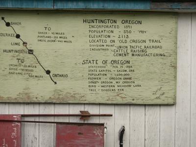 Sign For Huntington