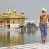 Sikh Pilgrim At Sri Harmandir Sahib
