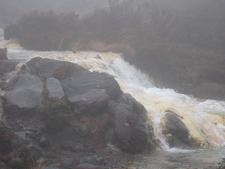 Silica Rapids Draped In Mist - Tongariro