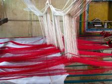 Silk Sari Weaving At Kanchipuram