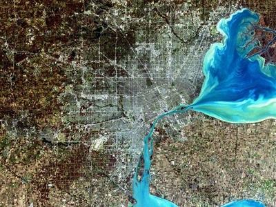Simulated Satellite Image Of Metro Detroit