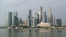 Singapore Skyline In The Early Morning