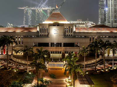 Singapore Parliament - Night View