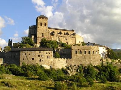 Church And Castle Notre-Dame De Valere