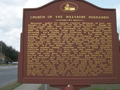 Site Of The Former Hernando Church Of The Nazarene Along Us