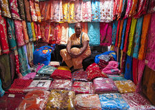 Sitting In HTE Centre Market - Mauritius