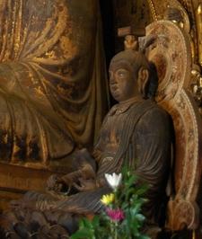 Sitting Monju Bosatsu Inside Of The Eastern Golden Hall