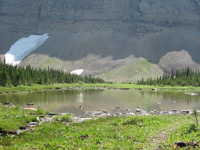 Siyeh Pass Trail Views At Glacier - Montana - USA