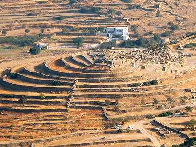 Skarkos  Hill  Settlement On  Ios