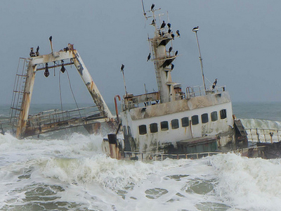 Skeleton Coast Shipwreck - Namibia