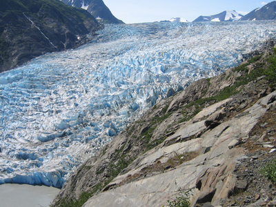 Skilak Glacier In The Kenai Mountains