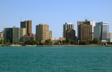 Skyline Of Windsor Viewed From Detroit