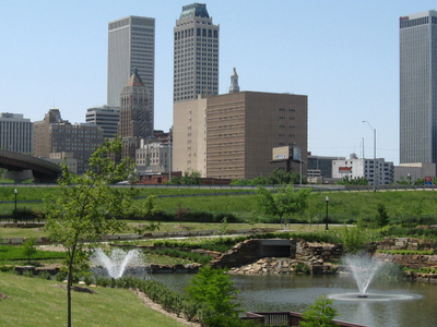 Skyline Of Downtown Tulsa