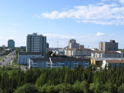 Skyline Of Downtown Yellowknife