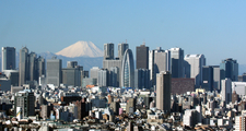 Panoramic View Of Shinjuku And Mount Fuji