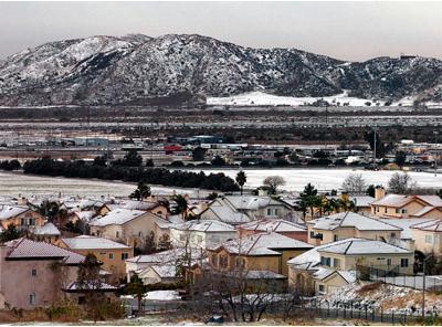 Snowfall In The Eastern San Bernardino Valley