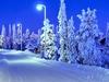 Snowy Road In Ruka - Finland