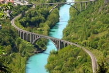 Solkan Bridge Over Soca River - Novo Gorica