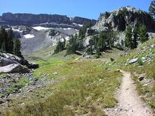 South Fork Cascade Canyon Trail At Grand Tetons - Wyoming - USA