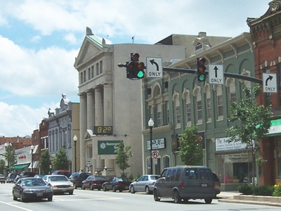 South Main Street As Seen From The Intersection Of Main And Woos
