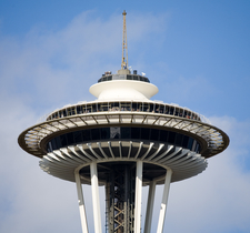Space Needle Top Close