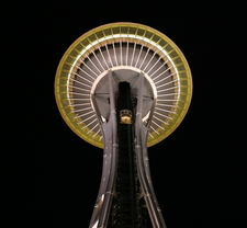 Space Needle Top At Night