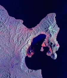 Space Radar Image Of Rabaul Volcano - Papua New Guinea