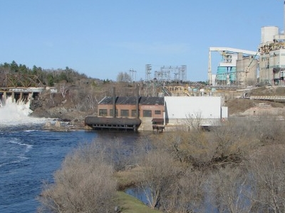 Spanish River And Domtar Mill In Espanola