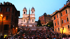 Spanish Steps At Dusk