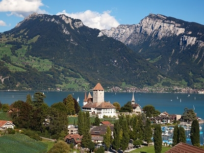 Spiez Castle - Lake Thun - Bern Switzerland