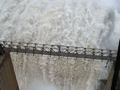 Srisailam Dam - View From The Top Of Crust Gate