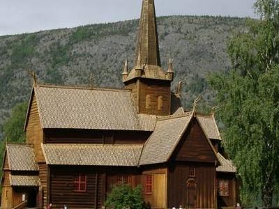 Stabkirche  Lom  Norwegen