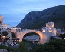 Night View Of Stari Most