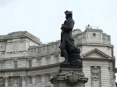 Statue Of Captain James Cook At Admiralty Arch