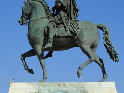 Equestrian Statue Of Louis XIV On The Place Bellecour
