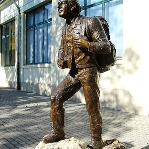 Statue Of The Hungarian Geographer Dénes BALÁZS At Museum