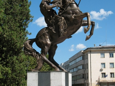 Statue Of The Medieval Bulgarian Warrior