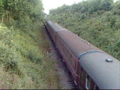 Steam Hauled Train In Mid Norfolk Railway