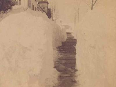 Stereoview New Britain C T Grand St Mar 1 3 1 8 8 8 Blizzard F