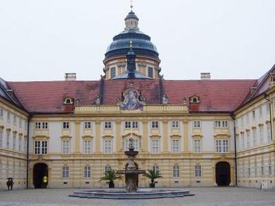 Courtyard Of The Stift Melk
