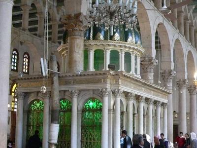 The Shrine Of John The Baptist Inside The Mosque