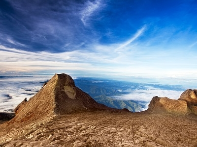 St. John's Peak At Mount Kinabalu