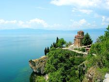 St. Jovan Kaneo Church And The Lake Ohrid