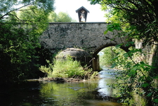 Stone Arch Bridge Across The Glan River, Glan, Carinthia