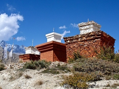 Stone Cairns Near Jomsom - Annapurna Nepal